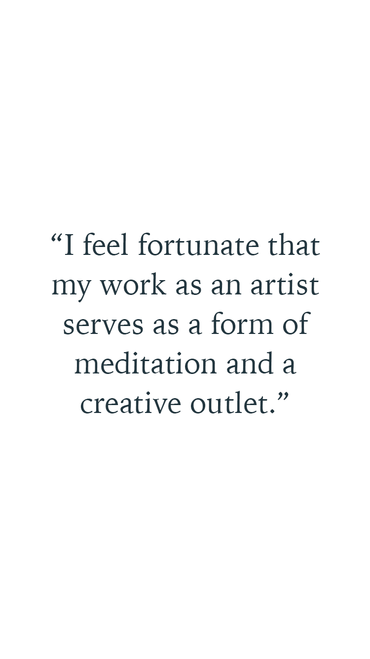 Quote by artist Pepä Ivanoff about a healthy work life balance
