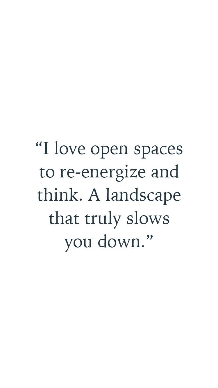 A quote by Laird Kay about slowing down and taking a breath to re-energise