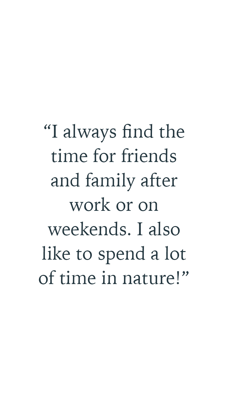 A wellness quote from Serena Guen founder of Suitcase Magazine about her family and friends