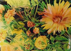 Marigold and dahlia