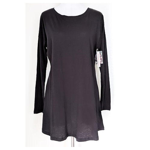 WEBSITE EXCLUSIVE - Black Tunic Tee