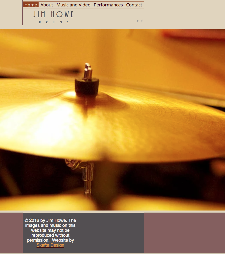 Jazz drummer website