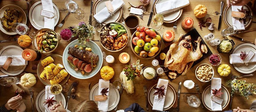 Festessen zum Erntedankfest