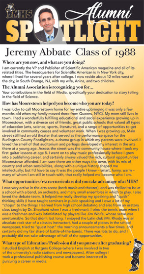 #14 Jeremy Abbate Alumni Spotlight page