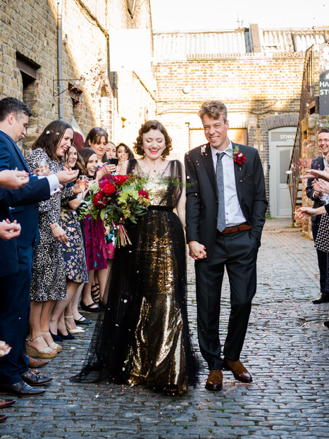 Real Bride - Keeley's Hollywood Starlet Gold Sequin Mermaid Gown