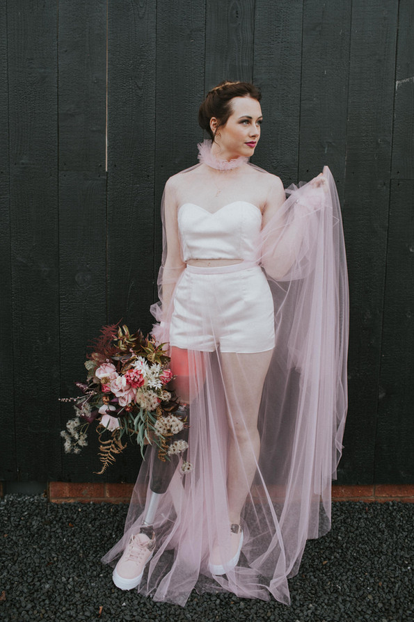 Moody Dusty Pink Editorial