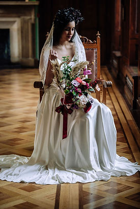 silk bridal circle skirt with train and silk camisole