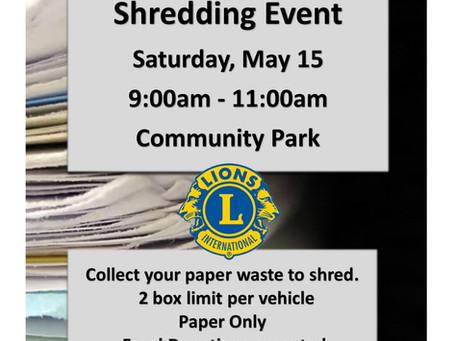 Annual Shredding Event