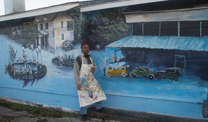Lee Hood's Mural is an Historical Look at Five Points in New Bern