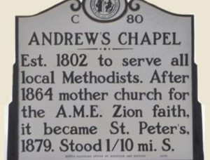 New Bern's ANDREWS CHAPEL: A Story of Race, Faith & Culture in 18th Century New Bern, No. Carolina