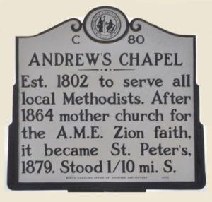New Bern's ANDREWS CHAPEL: A Story of Race, Faith & Culture in 18th Century New Bern, No. Carolina