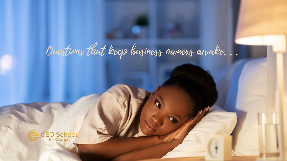 what keeps women business owners awake at night