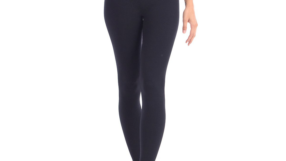 """Look at Me Leggings With Double Layer 5"""" Hi-Waistband - Black"""