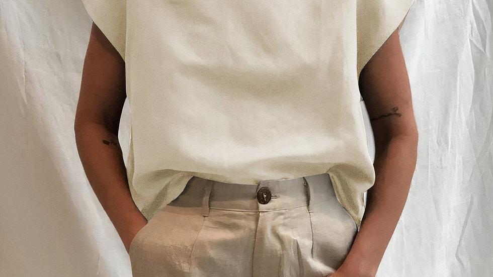Button Neck Top