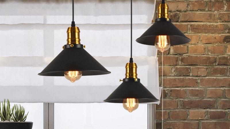 Retro Industrial Light Black Lustre Metal Ceiling Chandeliers