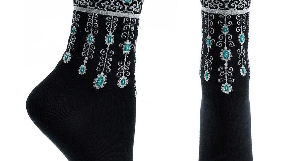 Bejeweled Cuffs Sock