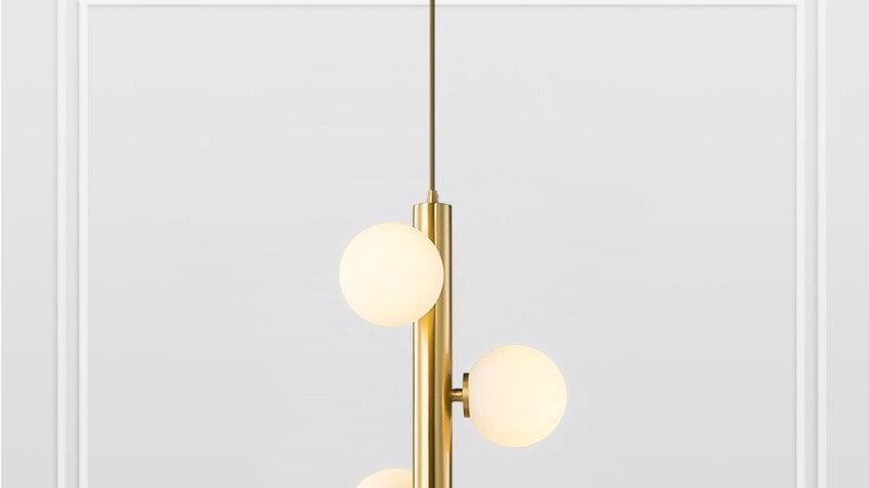 Golden Pendant Lights Creative Magic Bean Frosted Glass Ball Hanging Lamp
