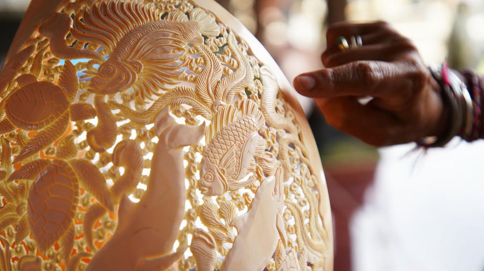 Coquillage sculpté