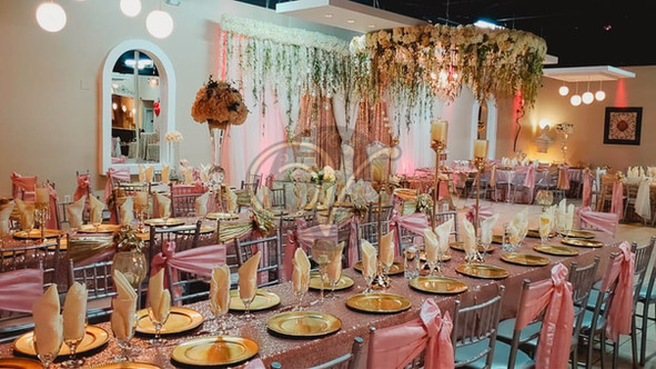Pink Chair Dressing and Gold Dishes Theme