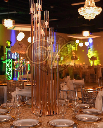 Candle step down centerpiece
