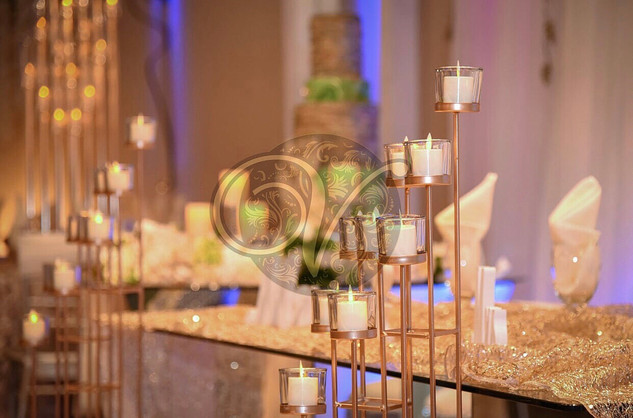 Gold theme with Candlelights