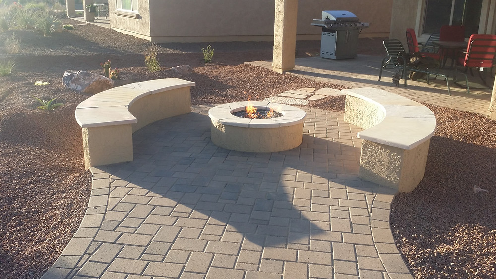 Paver Walkway to Fire Ring