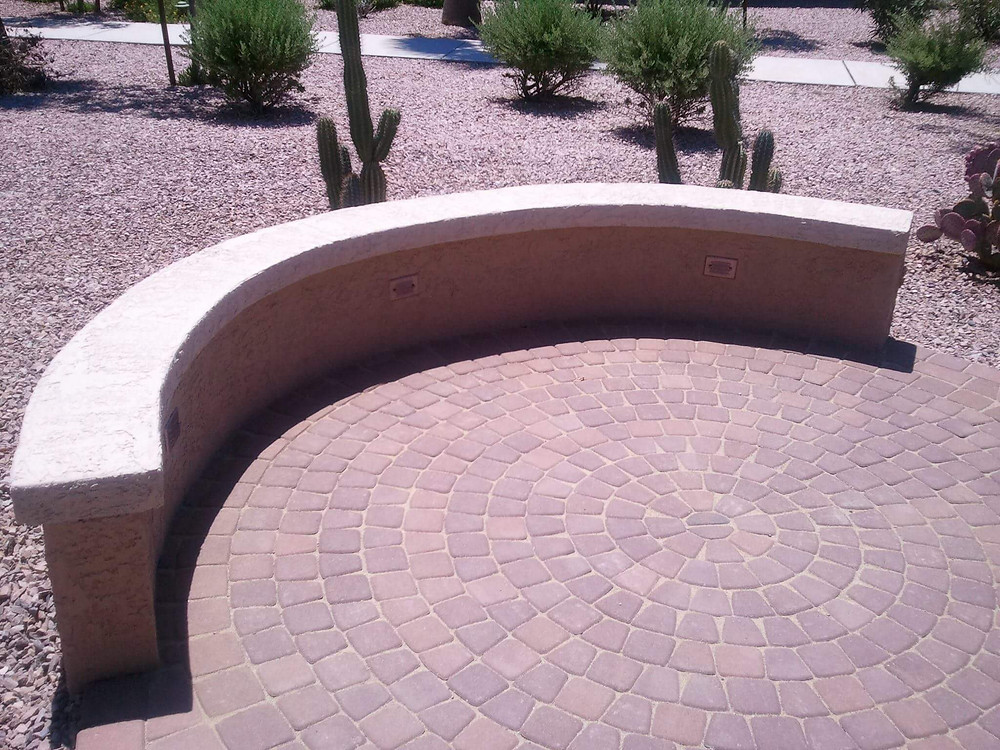 Circular Paver Patio