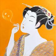 Beautés émouvantes des mondes flottants V orange – 心揺さぶる浮世の美 V オレンジ