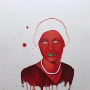 Lee Miller, color study #7, the Cadmium portrait