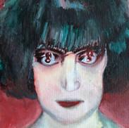 """La Marquise Casati (portrait femme de face avec bougé """"le portrait de mon âme"""") - positive"""