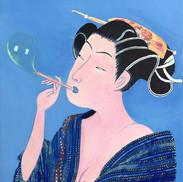 Beautés émouvantes des mondes flottants V bleu – 心揺さぶる浮世の美 V 青