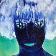 """La Marquise Casati (portrait femme de face avec bougé """"le portrait de mon âme"""") - negative"""