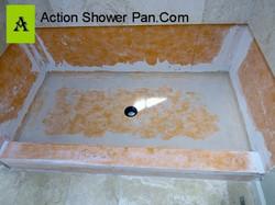 Travertine Shower Pan #2