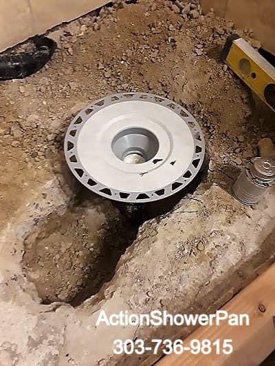 New Schluter shower drain installed.