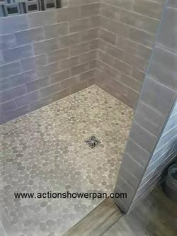 Ceramic Tile Shower Pan