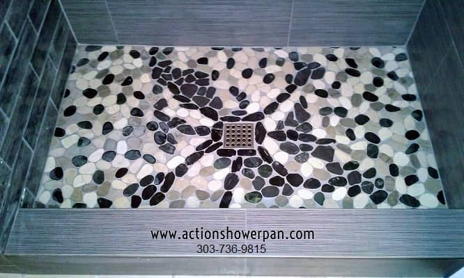Natural Stone Tile Shower Pan
