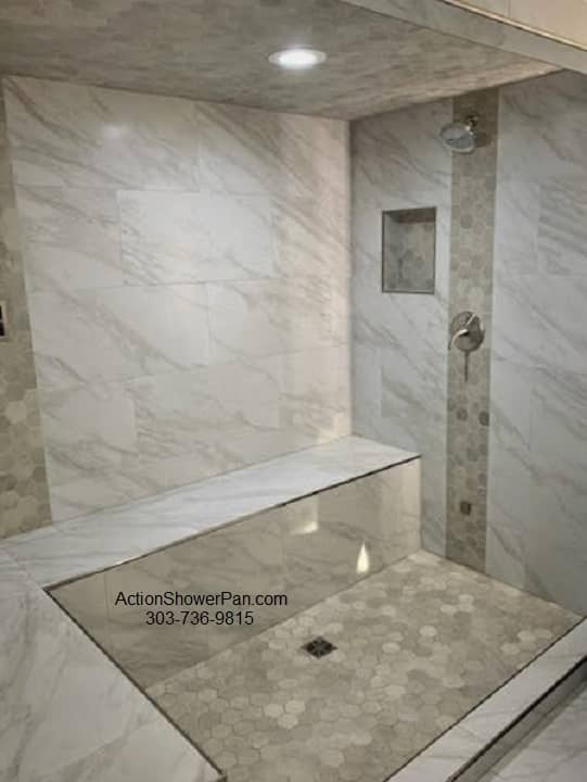 Porcelain Tile Shower Pan