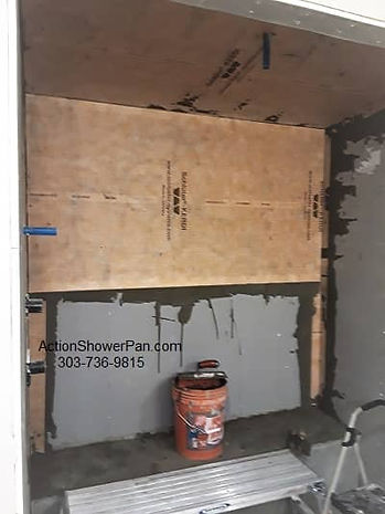 Waterproofing a steam shower