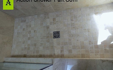 Marble Tile Is Installed To Match The Wall Denver Co