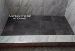 Large Format Tile Shower Pan