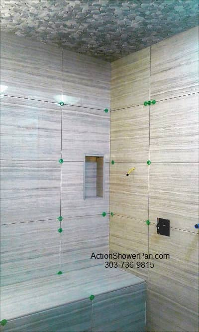 Castle Rock Shower Tile Installation
