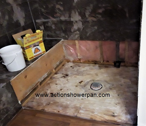 Marble Shower Pan Repair #2
