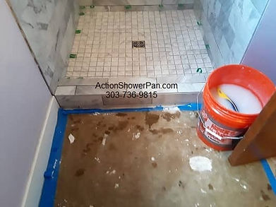 Ceramic Tile Shower Pan