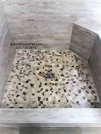Englewood Shower Pan Tile Installation