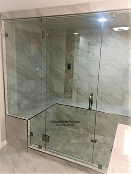 Tub to steam shower conversion