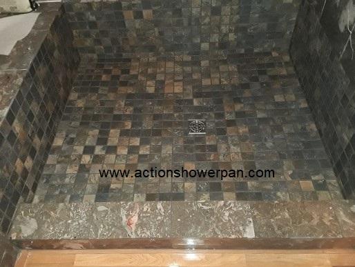 Marble Shower Pan Repair #4