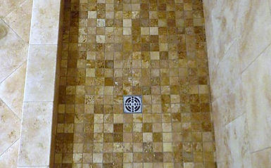 sheet tile for showers. 2x2 travertine sheet tile for shower  Tile Installer Boulder Custom Installers Action Shower Pan Com