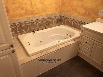 Tub to walk-in shower conversion