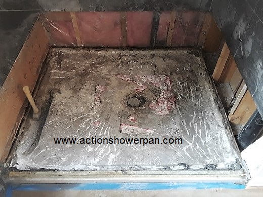 Marble Shower Pan Repair#1