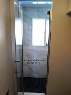 Aurora Shower Door Installation